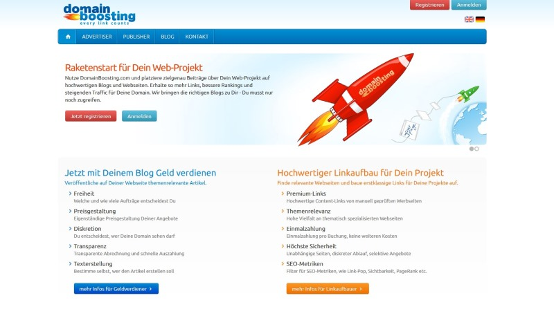 Domainboosting – Geld verdienen mit Blog-Marketing