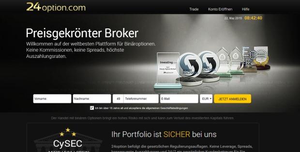24Option.com – Ein starker online Broker für Binäre Optionen