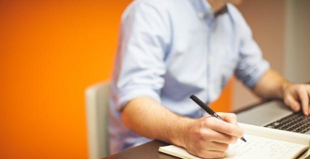 Büroalltag beim Bloggen