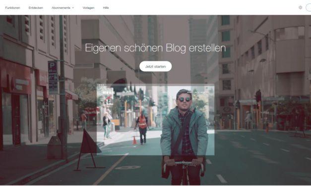 Einen eigenen Blog erstellen mit Wix.com